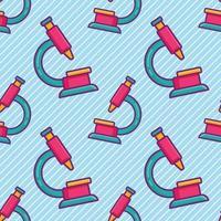 microscope seamless pattern illustration vector