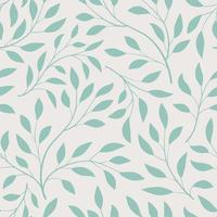 Floral seamless pattern. Branch with leaves ornamental texture. Flourish nature summer garden textured background vector