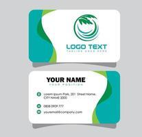Cannabis Business Card vector