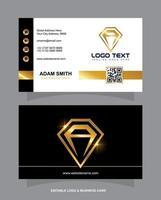 tarjeta de visita de diamantes vector