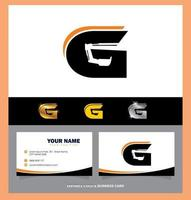 Construction Monogram Letter G Logo and Business Card vector