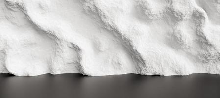 Pared de onda rugosa blanca abstracta, render 3d foto