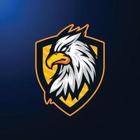 Ilustración de la mascota de la cabeza del mito del águila grifo vector