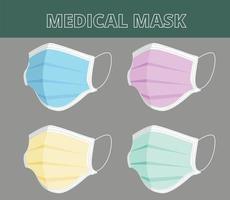 Cartoon style medical mask vector