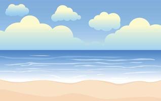 Beach Ocean Landscape Background vector