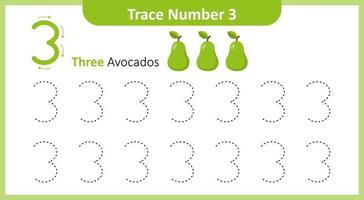 Trace the Number 3 vector