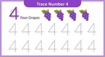 Trace the Number 4 vector