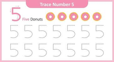 Trace the Number 5 vector