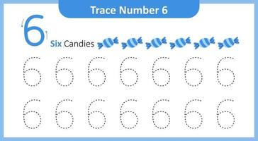 Trace the Number 6 vector