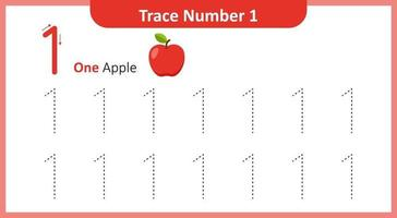 Trace the Number 1 vector