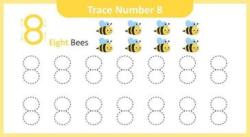 Trace the Number 8 vector