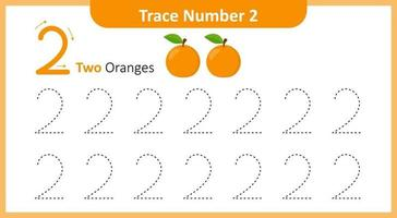 Trace the Number 2 vector