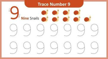 Trace the Number 9 vector