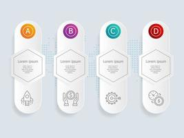 horizontal infographic presentation vector
