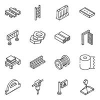 Building Material Elements vector