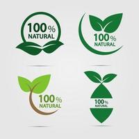 eco green natural energy logo set vector