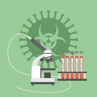 MICROSCOPE AND TEST FOR CORONAVIRUS vector