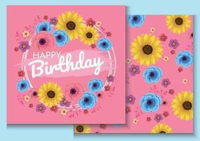 Diseño colorido del ejemplo del fondo del cumpleaños para la tarjeta vector