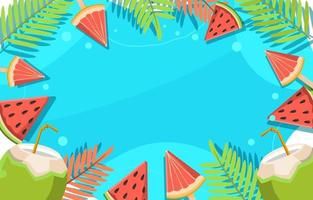 Fruity Fresh Summer Food vector