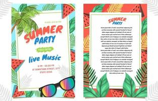 Invitation Summer Party vector