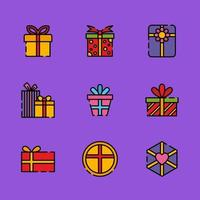 Kinds of Gift Boxes vector