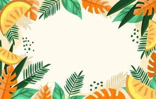 sensación de verano naranja tropical vector