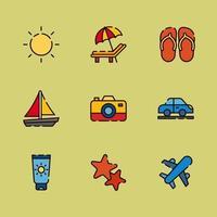 Warm Summer Vacation vector