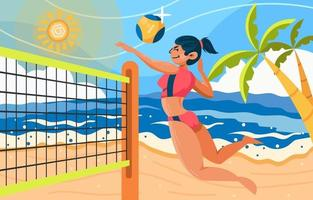 Summer Day with Volleyball vector