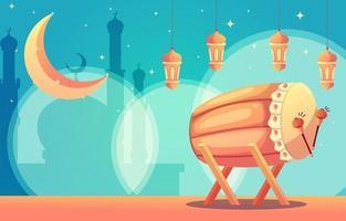 Beautiful Bedug Background vector