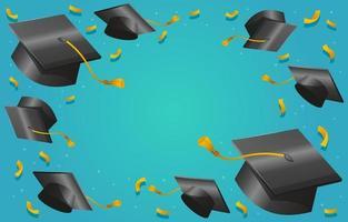 Graduation Hat Background vector