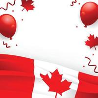 Canada Independence Day Background Template vector
