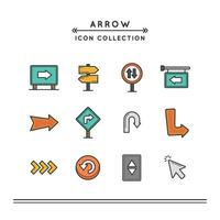 The Useful Arrow Used For Navigation vector