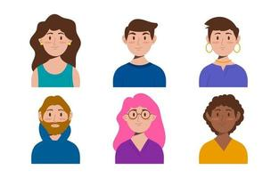 Flat People Avatar Collection vector