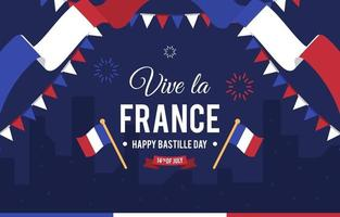 Bastille Day Festivity Background vector