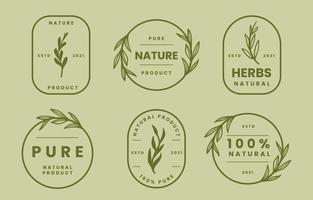 colección de logos naturales vector