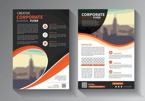 plantilla de vector abstracto de negocios. diseño de folletos, diseño moderno de portada, informe anual, póster, folleto en a4 con triángulos de colores, formas geométricas para tecnología, ciencia, mercado con fondo claro