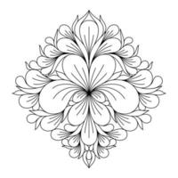 COLORING IN THE FORM OF A SYMMETRICAL VINTAGE MANDALA vector