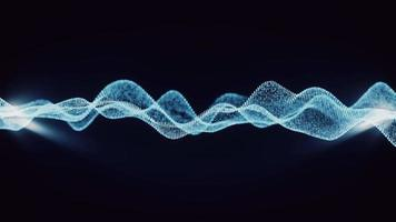 Schleifen Blaulicht-Drahtgitter-Array-Welle fließt video