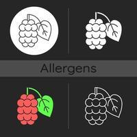 Mulberry dark theme icon vector