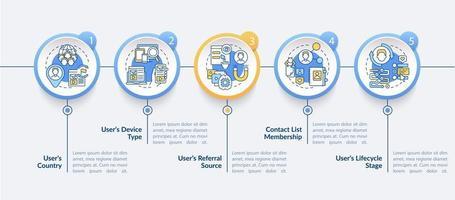 Smart content analytics criteria vector infographic template