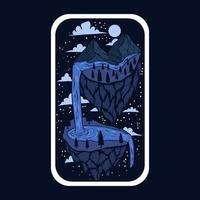 Imaginary adventure stickers vector illustration