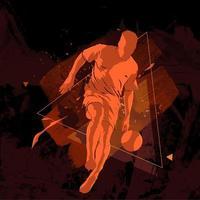 football soccer grunge silhouette vector