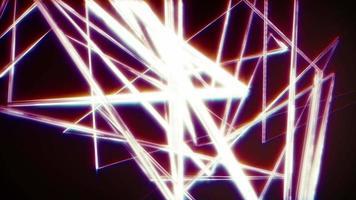 caos volando luz parpadeante material metálico plateado brillante video