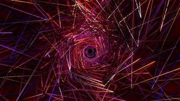 bucle futurista desordenado rosa rojo neón luz túnel video