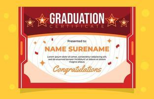 rojo de certificado de graduación vector