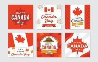 Happy Canada Day Greeting Cards vector