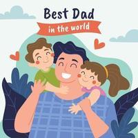 el mejor papá del mundo vector