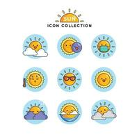 Many Expression of The Sun vector