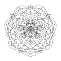 COLORING BOOK FOR ADULTS IN THE FORM OF A ROUND MANDALA vector