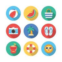 Fun Summer Objects Around Us vector